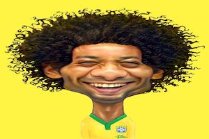 football caricatures picture round
